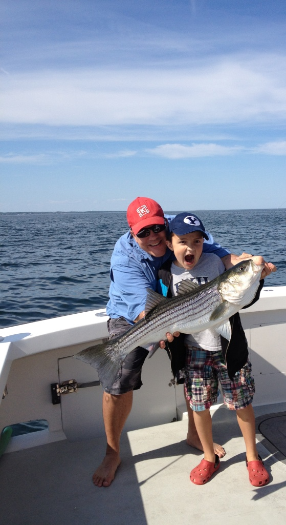 Karen Lynn Charters Striped bass fishing