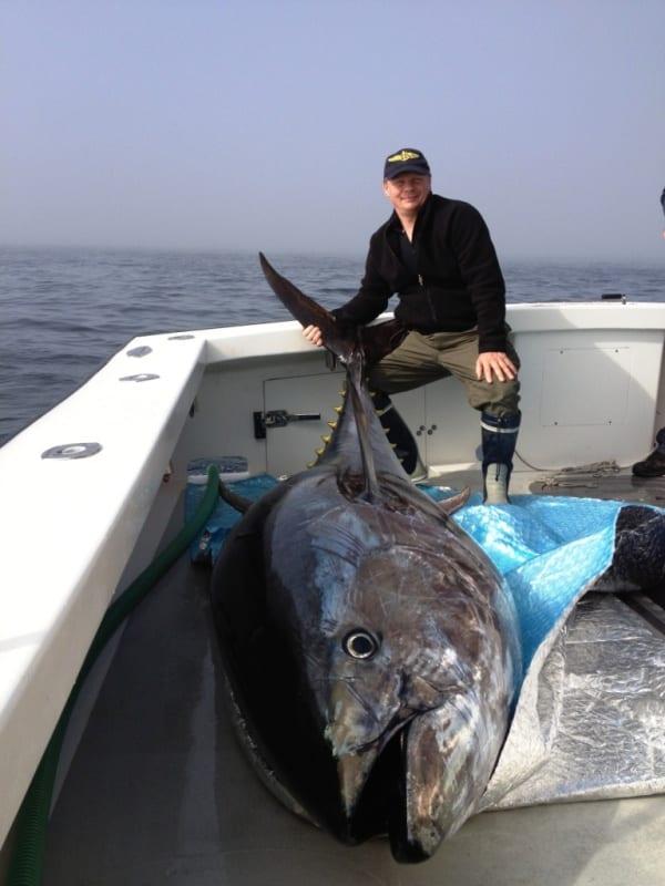 Gloucester, MA Giant bluefin tuna fishing Karen Lynn Charters