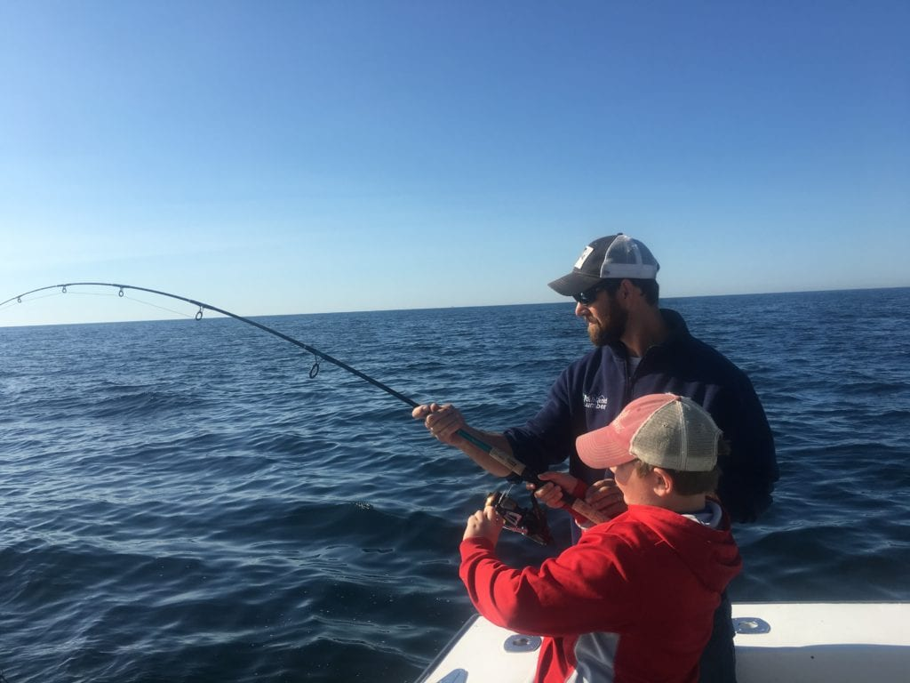 Gloucester, MA striped bass fishing Karen Lynn Charters