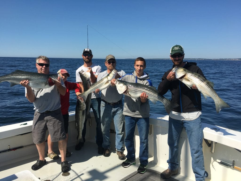 Karen Lynn Charters, Striped bass fishing, Gloucester, MA