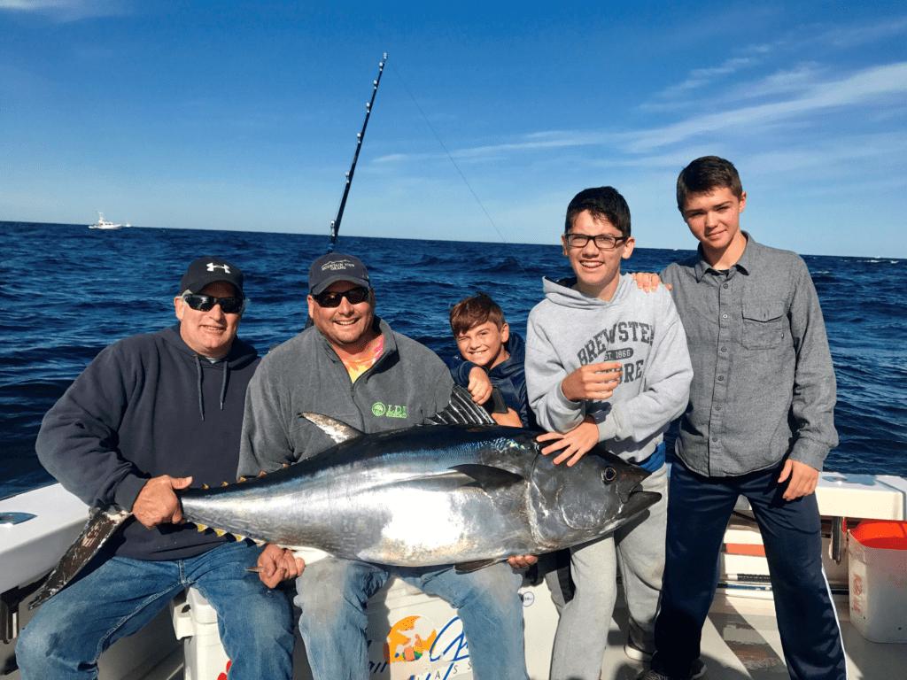 Karen lynn charters bluefin tuna striped bass cod for Deep sea fishing gloucester ma